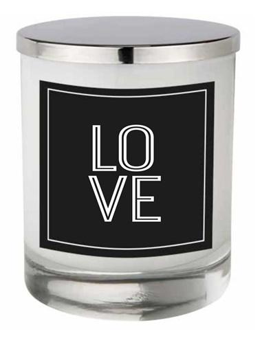 Lyn Home & Decor Love Üst Alt Beyaz Bardak Mum Beyaz
